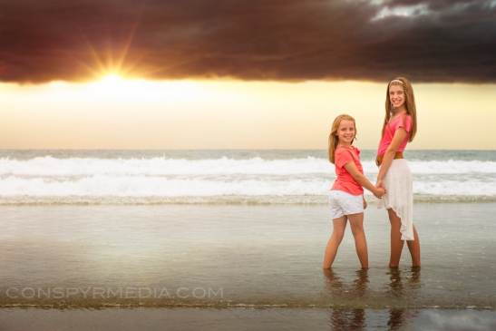 Sydney and Emma - Coronado Beach